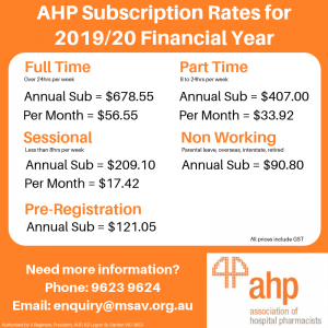 AHP Subs Rate 2019-20