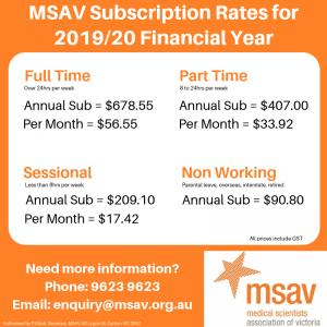 MSAV Subs Rate 2019-20