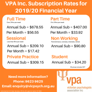 VPA Subs Rate 2019-20