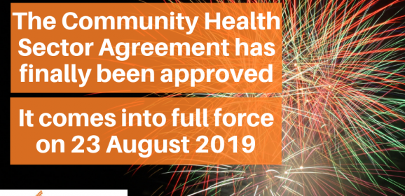 Community Health Sector Agreement Approved