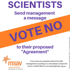 Melbourne IVF: Vote NO to the proposed Agreement